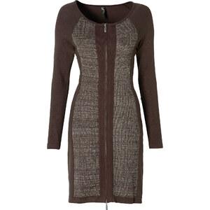BODYFLIRT boutique Kleid langarm in braun von bonprix