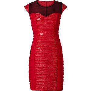 BODYFLIRT Shirtkleid/Sommerkleid kurzer Arm in rot (Rundhals) von bonprix