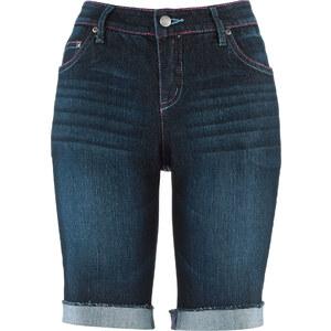 John Baner JEANSWEAR Stretch-Jeans-Bermuda, Normal in blau für Damen von bonprix