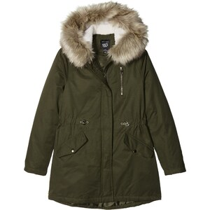 new look tulum parka manteau fille green dark khaki 14 ans. Black Bedroom Furniture Sets. Home Design Ideas