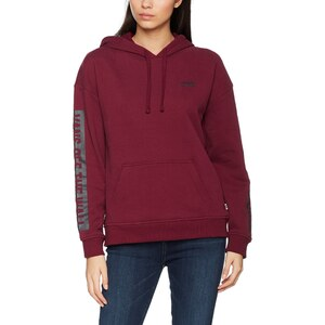 vans apparel damen kapuzenpullover wall tangle hoodie rot burgundy 40 herstellergr e x. Black Bedroom Furniture Sets. Home Design Ideas