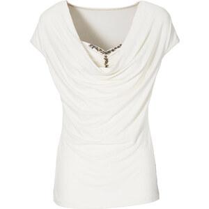 BODYFLIRT Shirt figurbetont in weiß (Rundhals) für Damen von bonprix