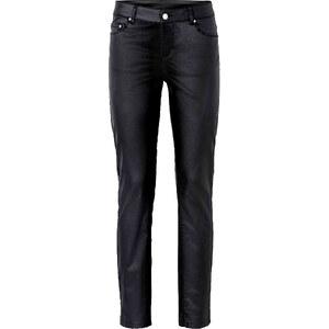 BODYFLIRT Hose mit Beschichtung in schwarz für Damen von bonprix