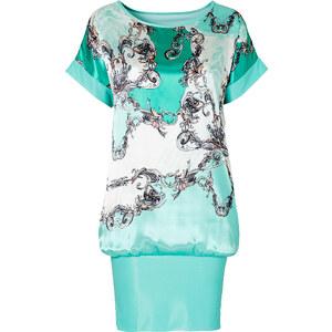 BODYFLIRT Shirtkleid/Sommerkleid kurzer Arm figurumspielend in blau (Rundhals) von bonprix
