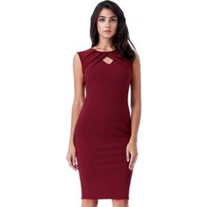 Dámské pouzdrové šaty Naomi vínové CityGoddess D9454A - Glami.cz 4d6f689df6