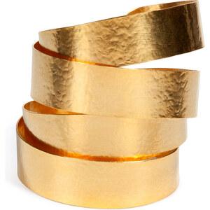 Hervé van der Straeten Hammered Gold-Plated Ruban Cuff