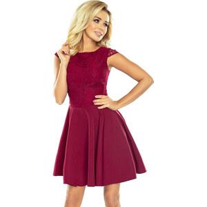 6bb26912efee NUMOCO Dámske červené elegantné šaty s čipkou 157-3 - Glami.sk