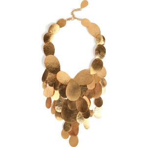 Hervé van der Straeten Hammered Gold-Plated Tears Layered Necklace