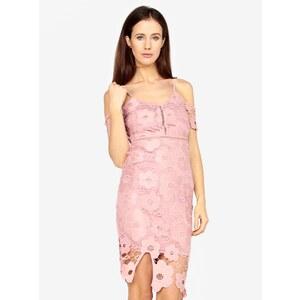 162be918e5f1 Ružové čipkované puzdrové šaty MISSGUIDED - Glami.sk