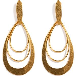 Hervé van der Straeten Hammered Gold-Plated Epure Earrings