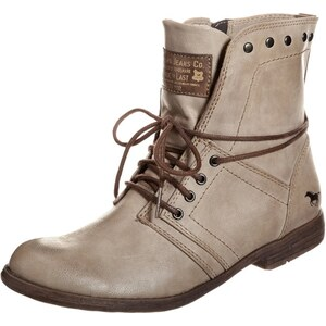 Mustang Bottines à lacets taupe