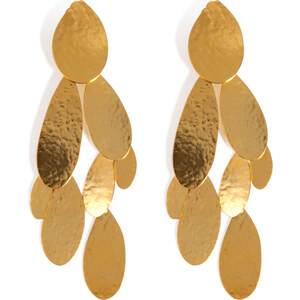 Hervé van der Straeten Hammered Gold-Plated Tears Earrings