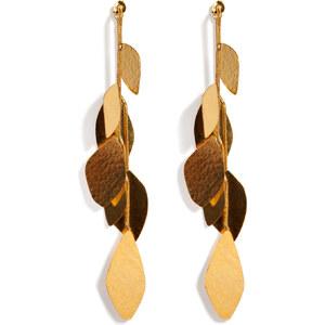 Hervé van der Straeten Hammered Gold-Plated Facet Earrings