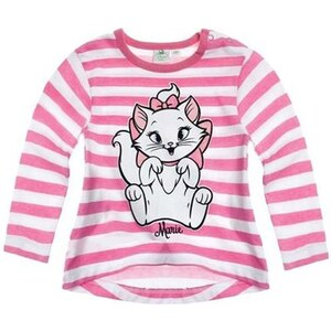 b25bee805b1e Disney Dievčenské pruhované tričko s mačičkou Minnie - ružovo-biele -  Glami.sk
