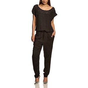 TOM TAILOR Damen Relaxed Jumpsuit with Lace Detail/405