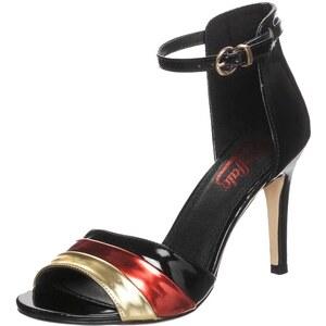 Buffalo Sandale black/red/gold