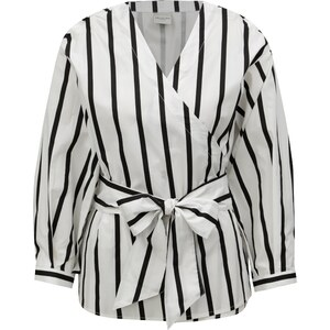 Černo-bílá pruhovaná zavinovací halenka Selected Femme Nadine - Glami.cz 90c206eca8