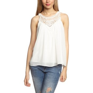 VERO MODA Damen Top NEWLY SWEET S/L TOP AIR - NFS