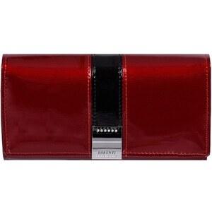 Lorenti veľká lakovaná kožená peňaženka červená GF114 SH red 24ef4c9695a