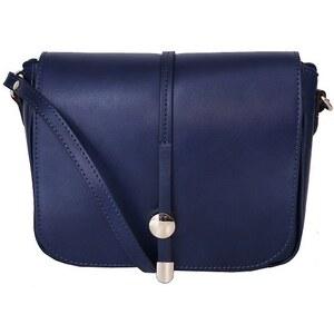TALIANSKE Talianska kožená kabelka crossbody stredne veľká Talianska modrá  Aurelia c385e77c1b1