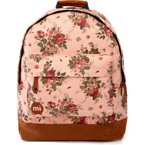Mi-Pac Premiums Cotton Rose Print Backpack - Peach