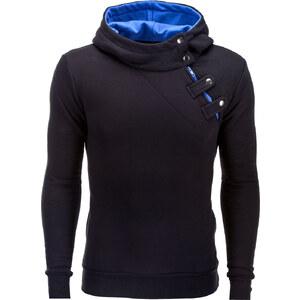 Ombre Clothing Pánska mikina Paco s bočným zipsom černo-modrá - Glami.sk bfb991bca09