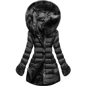 MODOVO Női téli kabát kapucnival W750 fekete - Glami.hu 1e7ad3d926