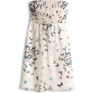 Esprit Schmetterlings-Print Chiffon-Empire-Kleid