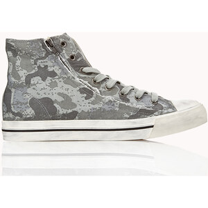 21 MEN Hohe Camouflage Sneakers