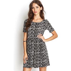 FOREVER21 Kleid mit abstraktem Print