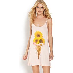 FOREVER21 Nachthemd mit Sonnenblumenmotiv