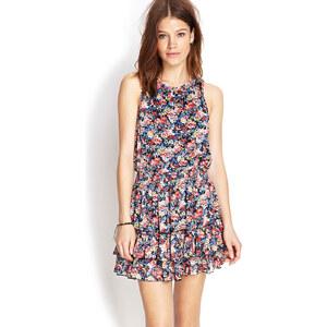 FOREVER21 Ausgestelltes Kleid mit Blumenprint