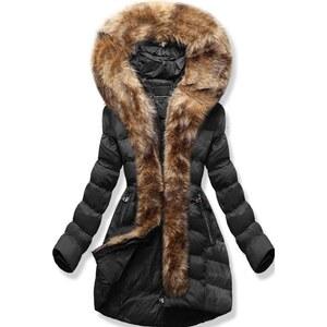 MODOVO Dámska zimná bunda s kapucňou W756 čierna - Glami.sk 5cc47316812