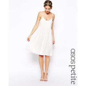 ASOS PETITE - Exklusives, ausgesteltes Kleid mit geknöpfter Vorderseite - Khaki 10,49 €
