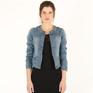 PIMKIE Jeansjacke mit verziertem Halsausschnitt