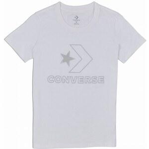 f9106ece7c5 Dámské tričko Converse Shine Crew Tee M white - Glami.cz