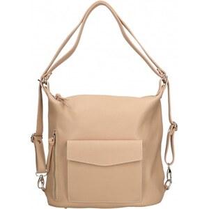 Praktická kožená větší svěle růžová kabelka a batoh v jednom karin VERA  PELLE 20011 - Glami.cz 0437866bc55