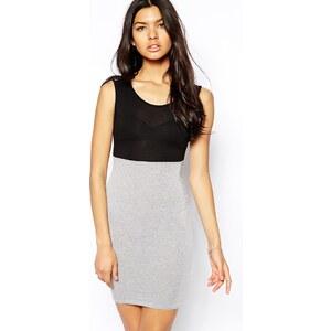 Club L – Essentials – Kleid in Blockfarben mit hoher Taille