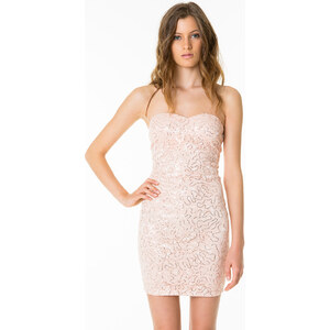 Tally Weijl Pink Sequin Embellished Bodycon Dress