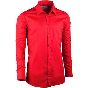 b39fe9c69819 Červená pánska košeľa slim fit s dlhým rukávom Aramgad 30384 - Glami.sk