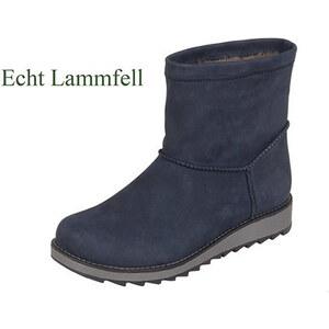 9ae5024692 Remonte - Rieker Tmavomodré kožené topánky na nízkom podpätku - Glami.sk