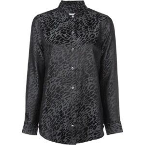 07d8f52ad454 Equipment Essential leopard print shirt - Black - Glami.sk