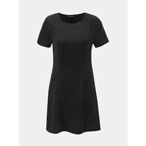 080b5c8bda48 Čierne šaty s trblietavým efektom Dorothy Perkins - Glami.sk