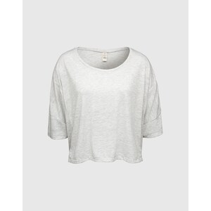 ALTERNATIVE Cropped Shirt Damen beige/grau