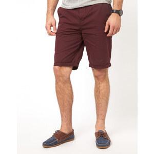 ASOS - Länger geschnittene Chino-Shorts - Burgunderrot