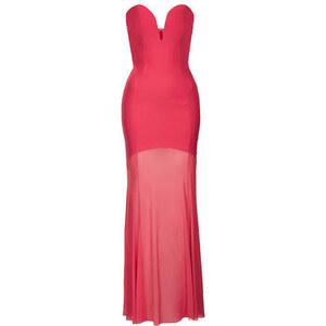 Topshop **Rosa Maxikleid mit Herzausschnitt von Rare - Pink