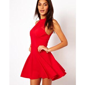 ASOS – Kurzes Kleid im Stil der 90er mit gerafftem Netzeinsatz