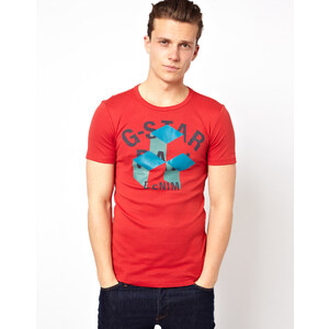G Star T-Shirt Cube Logo Print
