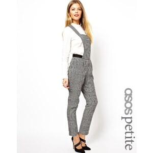 ASOS PETITE Exclusive Dungarees In Dogtooth Check