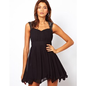 Little Mistress Prom Dress with Embellished Shoulder